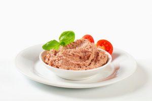 A bowl of liver pate