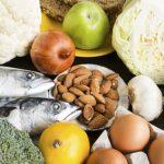 a display of healthy food