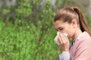 sneezing girl