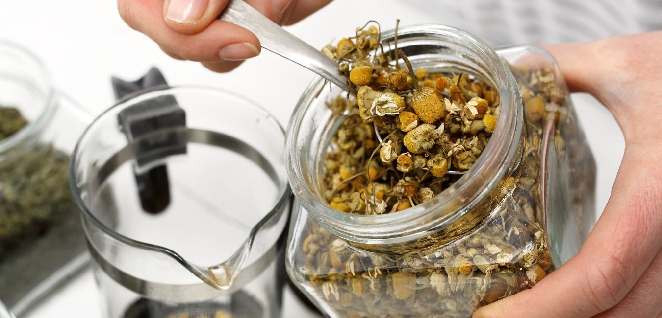 chamomile tea is a dried herb prescribed by a herbalist